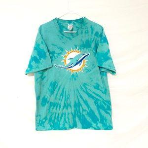 Miami Dolphins custom dyed tshirt